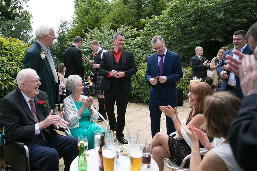Wedding Magician Photoshoot Outdoors
